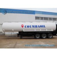 Wholesale Trapezoid Mild Steel Q345 Tri-Axle Fuel Tanker Semi Trailer 50000 Liters from china suppliers