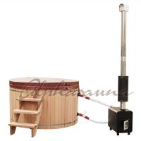 Wholesale 2100*900/1000/1200MM Sauna Hot Tub With Burning Stove Garden A Grade clear  Cedar Tub from china suppliers