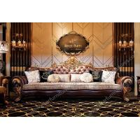 Quality Furniture In Usa Sectional Genuine Leather Sofa gold sofa set leather TI-028 for sale