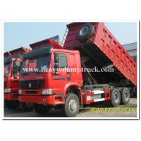 Wholesale 336 hp Howo 6x4 dump truck 10 wheels red dump truck for tough road from china suppliers