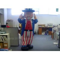 Decorative Inflatable Uncle Sam Costume Custom Moving Inflatable Mascot Costume