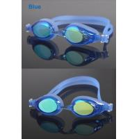 Wholesale Blue Corrective Swim Goggles / Mens Swimming Goggles for Competition from china suppliers