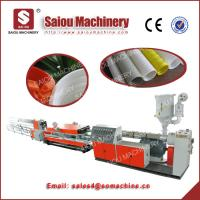 China PP PE 100mm diameter double wall corrugated pipe machine line on sale