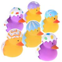 Quality Broken Egg Colorful Small Christmas Rubber Duck Promotional Gift OEM Pattern for sale
