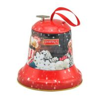 Buy cheap Christmas bell shaped music tin box Christmas decoration for candy from wholesalers