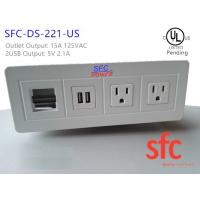 Wholesale Edge Mount Desktop Power Outlet With USB 2 Port , 2 Outlet Power / Data Distribution Unit from china suppliers