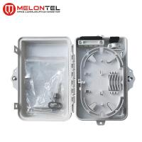 Small Plastic Outdoor Fiber Termination Box Wall Mount Type 4 / 6 Core MT 1215