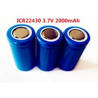 Wholesale li-ion LIR22430 2000mAh 3.7V  rechargeable battery from china suppliers