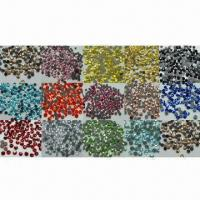 China Hot-fix Rhinestones, Available from SS4 to SS34, Different Colors are Available on sale