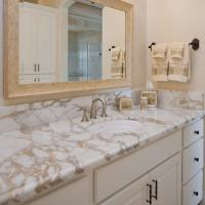 Wholesale G682 Granite Natural Stone Countertops , Granite Bathroom Countertop With Single Ceramic Wash Basin from china suppliers