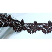 Wholesale brown floral venise lace fabric trim sewing DIY dress cloth/doll/bag L373 from china suppliers
