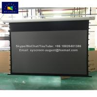 Wholesale 80-250 inch Black Crystal ambient light rejecting tab tensioned motorized projection screen from china suppliers