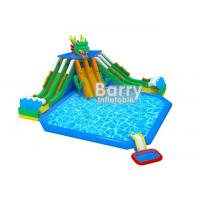 Wholesale Playground Outdoor Inflatable Aqua Park / 3 Slide Inflatable Water Fun For Children from china suppliers