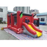 Commercial outdoor kids red combos with slide for amusement park from Sino factory for sale