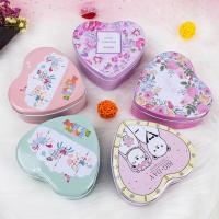 Candy Packaging Metal Tin Box Heart Shape For Valentine And Birthday for sale