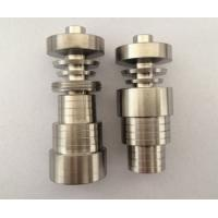 Wholesale HOT Universal Universal Adjustable Domeless Ti Titanium Nail GR2 14mm 18mm 19mm from china suppliers