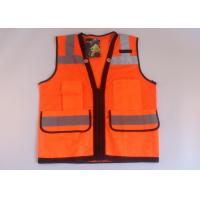Wholesale Multi-function pocket mesh and tricot fabric high vis vest reflective safety clothes from china suppliers