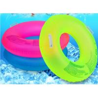 Fluorescent Inflatable Swim Ring Comfortable 39 Inch Size With Safety Handle