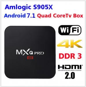 China Amlogic S905X Quad Core Hot sale Wifi MXQ Pro Android  Network IP TV BOX Android 7.1 TV 4K HD  TV BOX 2G Ram 16G Flash on sale