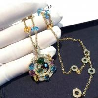 Wholesale Luxury Custom 18K Gold Jewelry , Bulgari Astrale Necklace With Gemstones from china suppliers