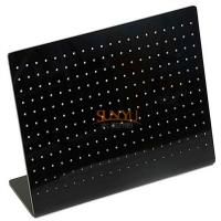 Wholesale 12 Rows 20 Holes Black Acrylic Display StandsEarring Jewelry Holder from china suppliers
