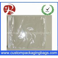 China Slider Zipper Plastic Clear PVC Hook Bag for Clothing / Underwear Packing on sale