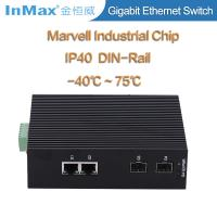 Buy cheap 4 ports gigabit switch, 2 SFP slots and 2 RJ45 ports 10 /100/1000Mbase Ethernet Switch from wholesalers