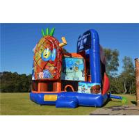 Wholesale Colorful PVC Spongebob 5 In1 Inflatable Bouncer Combo Jumping Castle For Play EN14960 from china suppliers