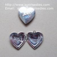 Wholesale 1 inch brass heart photo locket pendant for diy necklace, copper photo locket from china suppliers
