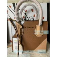 China New Knockoff Michael Kors Mercer Brown Genuine Leather Women's Bag for sale