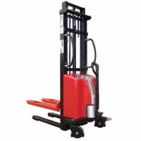 Buy cheap Safety Brackets Semi Electric Pallet Stacker 197kg Net Weight Low Voltage Alarm from wholesalers