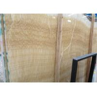 Yellow Onyx Polished Natural Stone Tile For Exterior Walls Honey Onyx Marble Type for sale