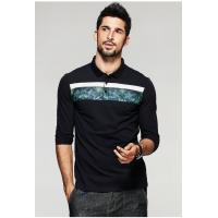 China 2019 Men's New Latest Fashion Design High Quality Long Sleeve Polo Shirt for sale