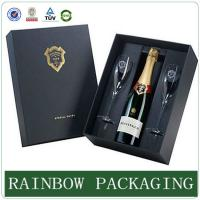 Wholesale Luxury wine glass paper box packaging ,  paperboard box , factory custom wine box from china suppliers