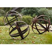 Buy cheap Hollow Corten Steel Lawn Ball Rusted Metal Garden Sculptures Custom Size from wholesalers