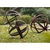 Buy cheap Hollow Corten Steel Lawn Ball Rusted Metal Garden Sculptures Custom Size from wholesalers