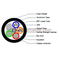 Wholesale Outdoor 12 Core Armoured Fiber Optic Cable GDTA Optical Power Composite Cable from china suppliers