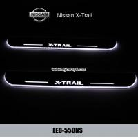 China Nissan X-Trail car pedal set LED lights pedal car step Moving door scuff on sale