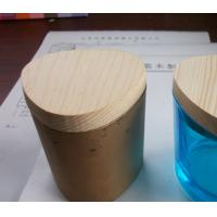 Wholesale pine wood lid for perfume bottle natural wood perfume cover for oil diffuser bottle from china suppliers