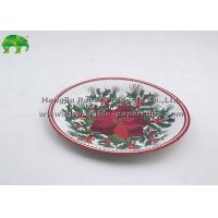 Wholesale Cute Bamboo Christmas Party Paper Plates Round Environmental Protection from china suppliers