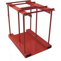Buy cheap 800 Lbs Capacity Gas Cylinder Caddy With Hinged Divider Bar / Steel Ramp from wholesalers