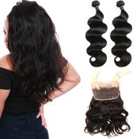 Wholesale Real 360 Lace Band Frontal Closure Virgin Hair Body Wave No Synthetic Hair from china suppliers