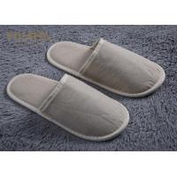 Quality Guest Close Toe Cotton Disposable Hotel Slippers White Waffle Hotel Slippers With Logo for sale