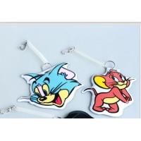 Wholesale Full Color Rubber Luggage Tags , Personalised Suitcase Tags Plastic from china suppliers