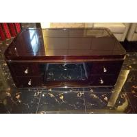 Wholesale Rectangle Hotel Coffee Table Classical Style High Gloss Ebony Wood Veneer Material from china suppliers