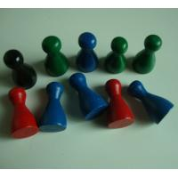 Wholesale wood pawn 1 inch wood craft pieces wooden game pawn painted color from china suppliers