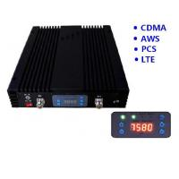 China CDMA GSM AWS LTE Quad Band Mobile Signal Repeater 20 dBm Coverage 2000sqm 70dB Gain on sale