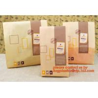 Wholesale Professional Food Safe Opp Clear Window Paper Bags Offset Printing, OEM Block Bottom Bags Tin Tie White Paper bags with from china suppliers
