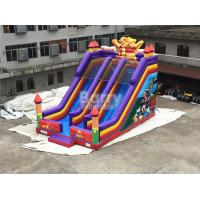 Wholesale Professional Double Lanes Bear Kid Inflatable Slide 12*8*8m Or Customized from china suppliers