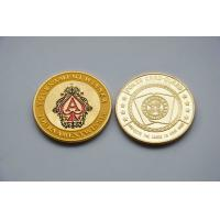 China Engrave Laser Fake Golden Commemorative Coins with Aluminium Stainlesss steel on sale